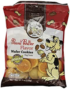 Exclusively Dog Wafer Cookies-Peanut Butter Flavor, 8-Ounce Package