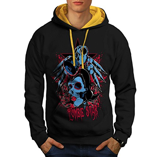 Evil Zombie Star Rise Nightmare Men S Contrast Hoodie | Wellcoda (Love Bite Vampire Costume)