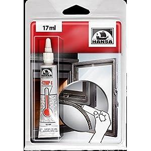 Hansa, colla adesiva sigillante resistente al calore e alle alte temperature, per stufe, caminetti, corde isolanti in… 6 spesavip
