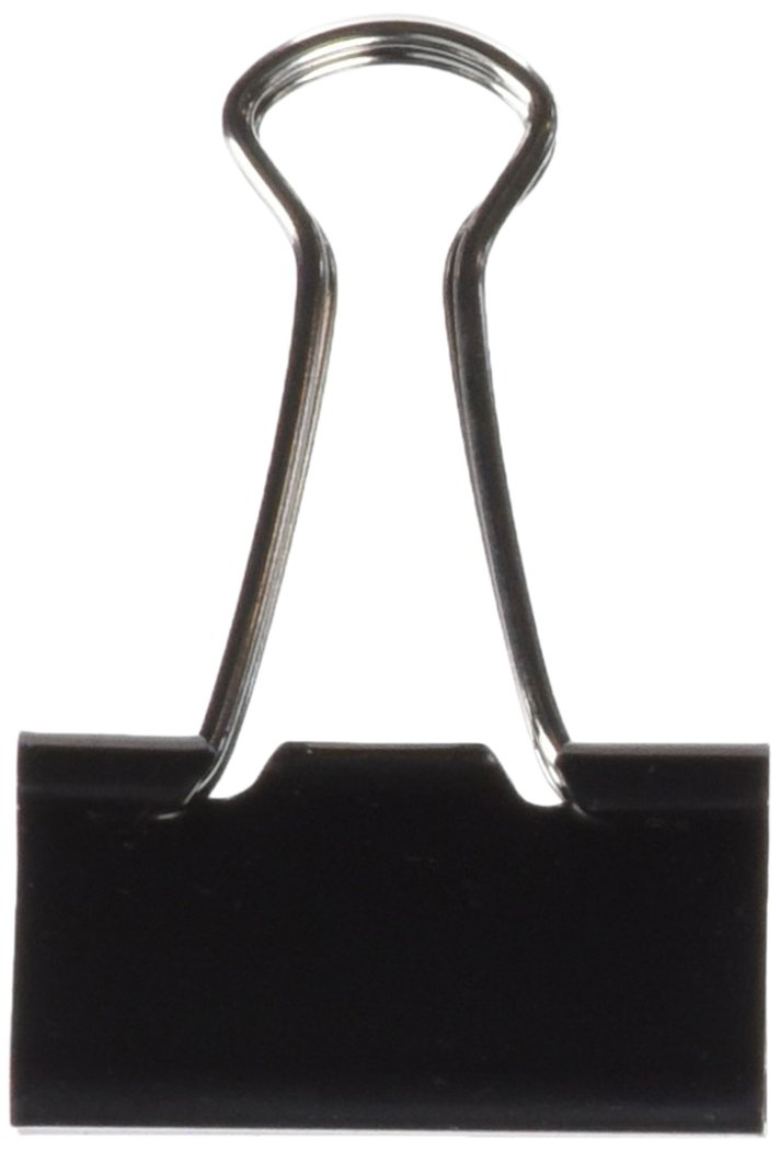 Clipper Lot de 100 pinces double clip Noir 19/mm