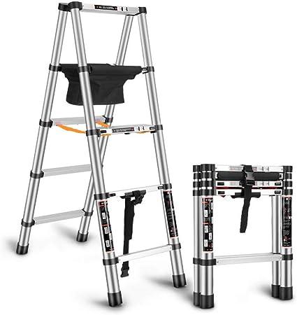 Ladder Escalera Telescópica, Escalera Doméstica, Aleación De Aluminio, Engrosamiento, Escalera De Ingeniería, Escalera Multifuncional Portátil De Elevación Seguro Y Transitable: Amazon.es: Hogar