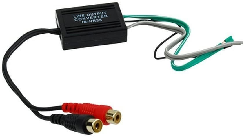 Speaker Wire To Rca Hi Low Line Level Adapter Converter Audio Output Video Car Mp3 Hifi