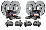 Power Stop KCOE4434 Front and Rear Stock Replacement Brake Kit (with Calipers)