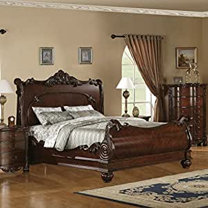Roundhill furniture saillans solid wood for Bedroom furniture amazon