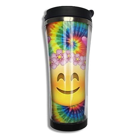 amazon com emoji travel mugs stainless steel 420ml customized