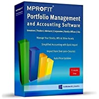 Mprofit Investor Portfolio Management and Accounting Software 1 PC 1 Year(CD)