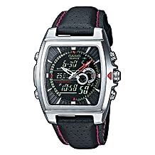 Casio Men's Edifice EFA120L-1A1V Black Leather Quartz Watch