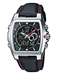 Casio Men's Edifice EFA120L-1A1V Black Leather Quartz Watch