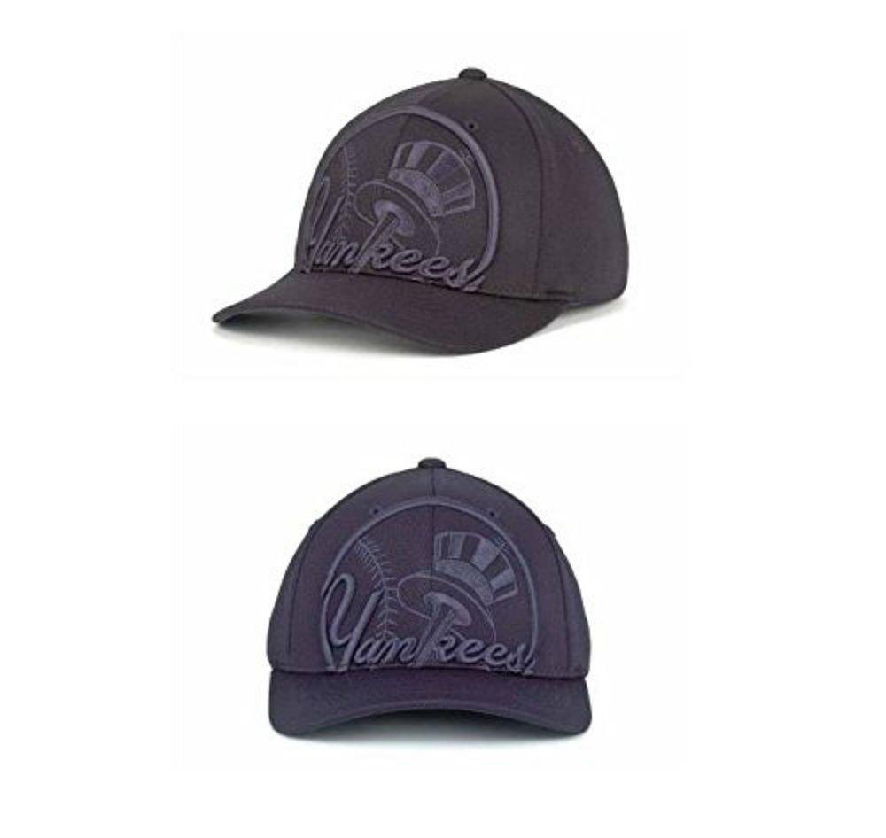 ニューヨークヤンキースフレックスフィットL / XL Navy帽子 – Best Fits 7 3 / 8から7 3 / 4 B01F2IPKUO