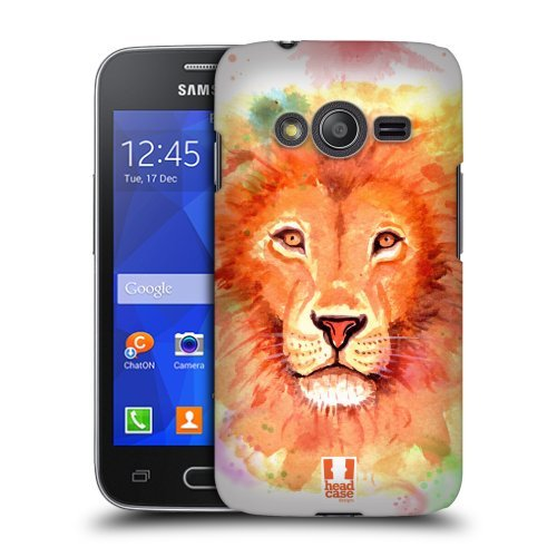 Head Case Designs Lion Watercoloured Animals Protective Snap-on Hard Back Case Cover for Samsung Galaxy Ace NXT G313HDual