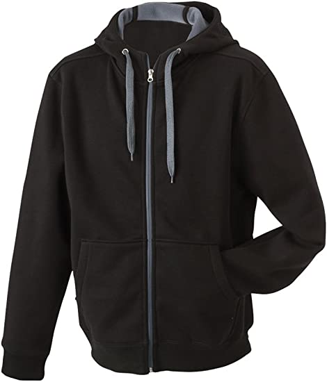 James & Nicholson Men's Doubleface Sweat Jacket at Amazon