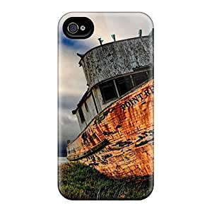 Sanp On Case Cover Protector For Iphone 4/4s (ship Wreck On Shore Hdr)