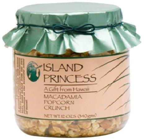 Macadamia Popcorn Crunch Small Gift Jar (12 Oz., 340 gms.) Awarding Winning - Hawaii Made