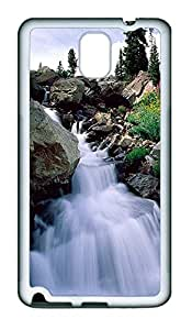 Samsung Note 3 Case Nature Waterfall 2 TPU Custom Samsung Note 3 Case Cover White