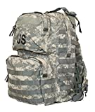 FULLY LOADED US Army Military Tactical MOLLE II Camo Camouflage ACU MEDIUM RUCKSACK Bag Sack + 4 POUCHES (Communication, Admin, 2 40mm High Explosive Pouch) + PATCHES GI USGI NSN 8465-01- F00-8677
