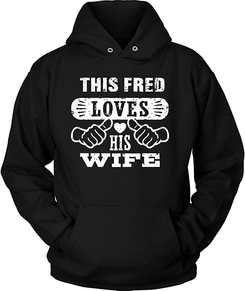 This FRED Loves His Wife Hoodie Black