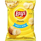 Lay's Potato Chips, Classic Flavor, 14.75oz Party Size! Bag (Packaging May Vary)
