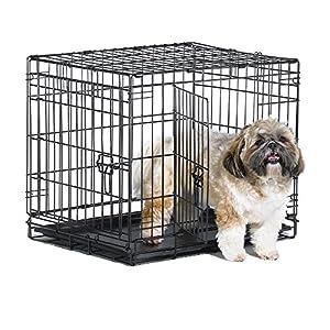 New World Folding Metal Dog Crate; Single Door & Double Door Dog Crates 1