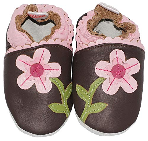 BabySteps Flower Power - Zapatos para bebé, talla XL, color marrón color marrón Babysteps Footwear bs130XL