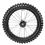 WPHMOTO 70/100-17 (2.75x17) 1.6x17 Wheel Tire and Rim Inner Tube with 15mm Bearing Assembly for Dirt Pit Bike
