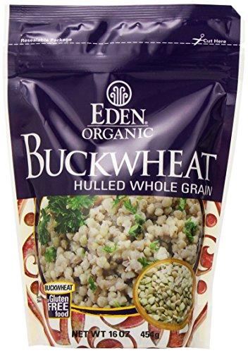 EDEN Buckwheat, Hulled Whole Grain,16 -Ounce Pouches (Pack of 12) Buckwheat Whole Grain