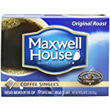 Maxwell House Coffee Singles,Original Roast 19-Count Single Serve Bags Net Wt 3 Oz (Pack of 4)