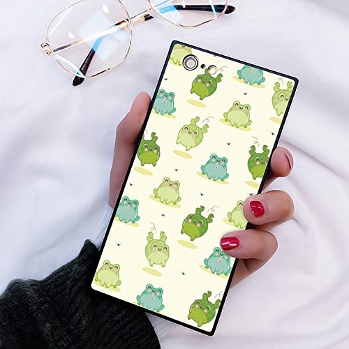 Square Cartoon Frog iPhone 6S Case, JQLOVE All-Inclusive Full-Body Shockproof Protective Phone Cover, Case for iPhone 6 Cartoon Frog