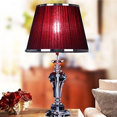 CJH Modern Minimalist Creative Bedroom Bedside Lamp European Study Room Living Room Crystal Lamp