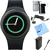 Samsung Gear S2 Smartwatch for Android Phones Essentials Bundle (Black Essentials Bundle)