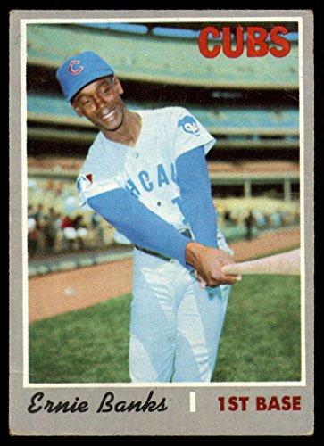 Baseball MLB 1970 Topps #630 Ernie Banks VG Very Good Cubs