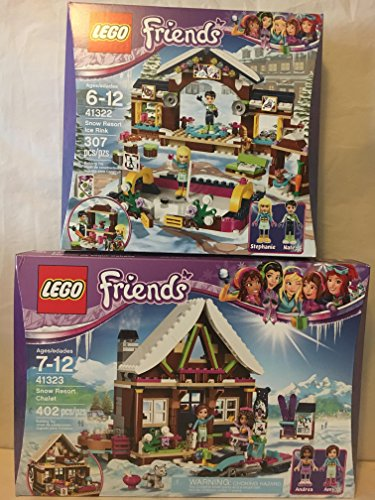 LEGO Friends Snow Resort Chalet & LEGO Friends Snow Resort Ice Rink Husky Stacking Chair
