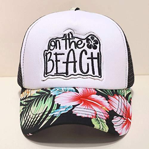 SLH 花帽子男性と女性ファッション夏野球帽キャップメッシュ換気サイクリングキャップサン帽子