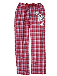 Total Girl Red Plaid Girl Flannel Sleep Pant Heart Pajama Bottom Lounge XXL Plus