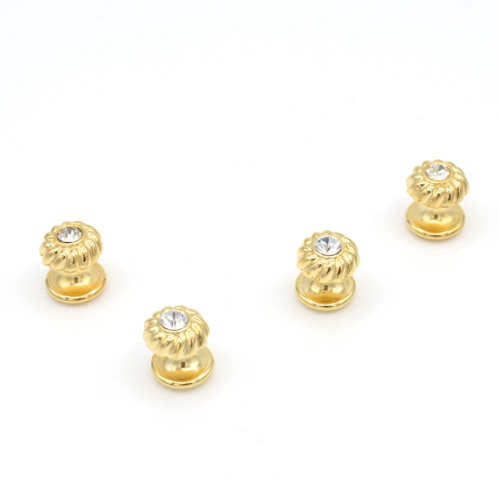 JJ Weston Crystal Tuxedo Shirt Studs. Made in the USA