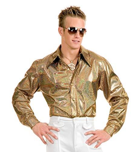 Charades Men's Hologram Disco Shirt, Black/Gold, X-Large]()