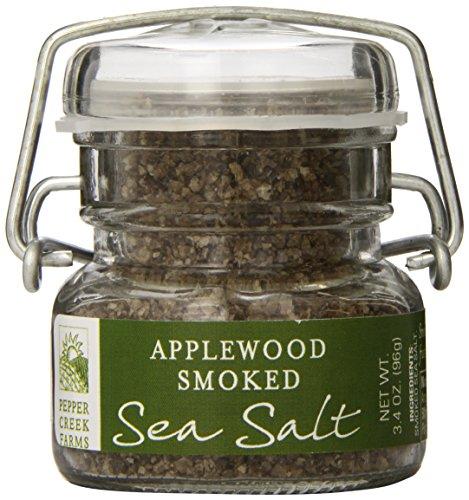 Pepper Creek Farms Sea Salt, Applewood Smoked, 3.4 Ounce ()