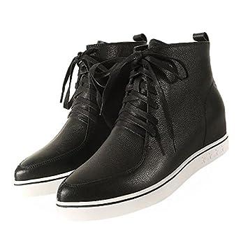 Zapatos de mujer Cowhide primavera otoño moda botas botas puntiagudo plano/tobillo Toe botines botas