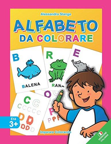 ALFABETO da Colorare (Imparare Colorando) (Italian Edition)
