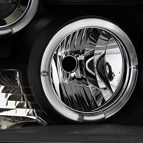 For Dodge Ram Pickup Truck Black Bezel Dual Halo Ring Led
