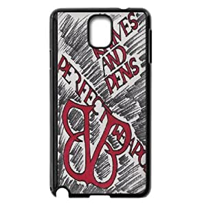 High Quality Phone Back Case Pattern Design 7Black Veil Brides Series- For Samsung Galaxy NOTE4 Case Cover