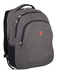 Swiss Gear 15.6-Inch Laptop Bag with Rfid Protection, Gray, Under Seat