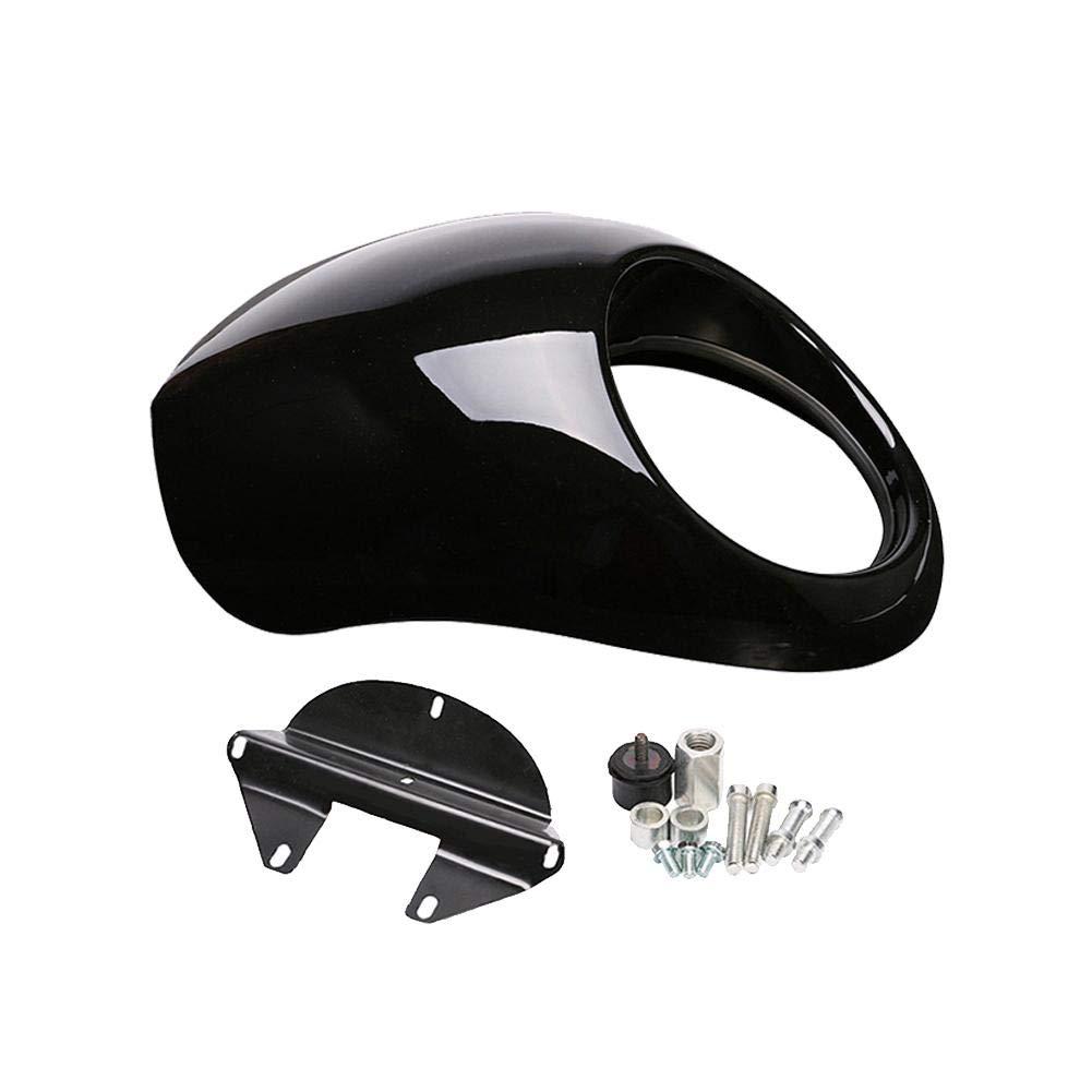 lā Vestmon Rétro Modifié Phares Couverture Accessoires Moto, Revêtement de Phare Noir Brillant pour Harley 883 XL1200 Revêtement de Phare Noir Brillant pour Harley 883 XL1200