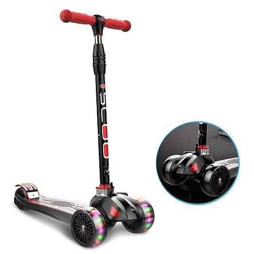 ZAQI Patinetes Kick Scooter Plegable, 4 Altura Ajustable ...