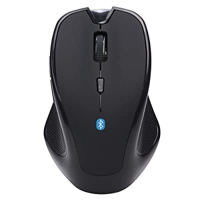 Computer Wireless Ergonomic Mouse,Portable Silent Computer Office Mobile Slim Optical Cordless Wireless Mouse, 6 Buttons, 1600DPI with 3 Adjustable Levels (Black): Arts, Crafts & Sewing