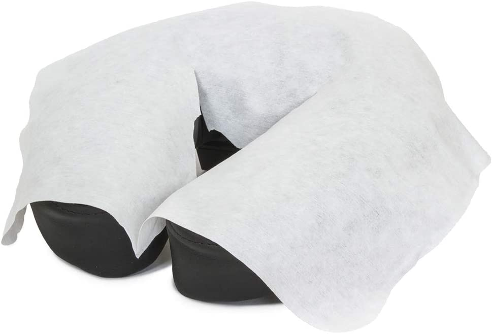 BodyMed® Disposable Face Cradle Covers – Disposable Massage Headrest Cover – 2 Packs of 100 Sheets for Massage Table