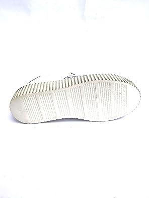 Dames Basket Platform Metallic Sneaker Made Italy Bianco, 37 MainApps Zeta Shoes