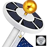 Blinngo 42 LED Solar Flag Pole Lights, IP65 Waterproof Flagpole Downlight for Most 15 to 25 Ft Dusk to Dawn Auto On/Off Night Lighting (Flag Pole Light)