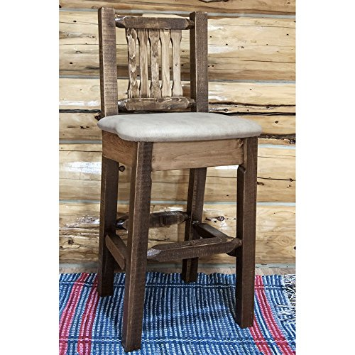Montana Woodworks Homestead Collection Barstool with Back...