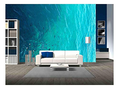 Ocean Wallpaper Murals - wall26 - Clear Water Ocean - Removable Wall Mural | Self-adhesive Large Wallpaper - 66x96 inches