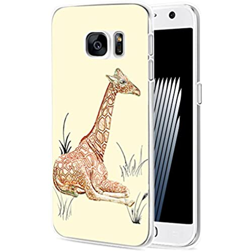 S7 Case Giraffe/ IWONE Samsung Galaxy S7 Case Tpu Skin Cover Protective Rubber Silicone + Lovely Beautiful Giraffe Sales